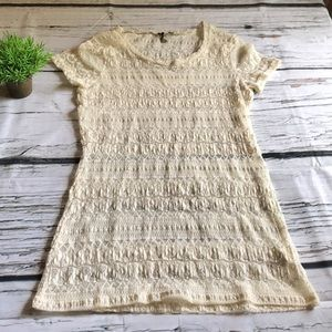 BKE ivory lace tunic in Large